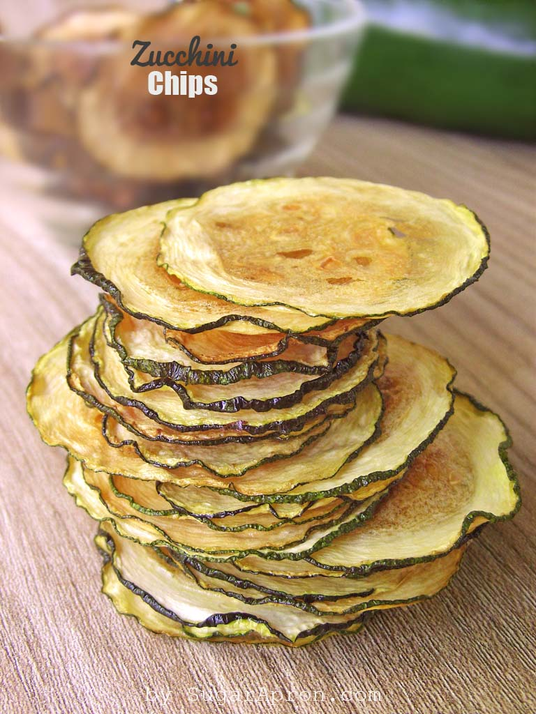Baked Zucchini Chips Recipe make a healthy substitute for potato chips.