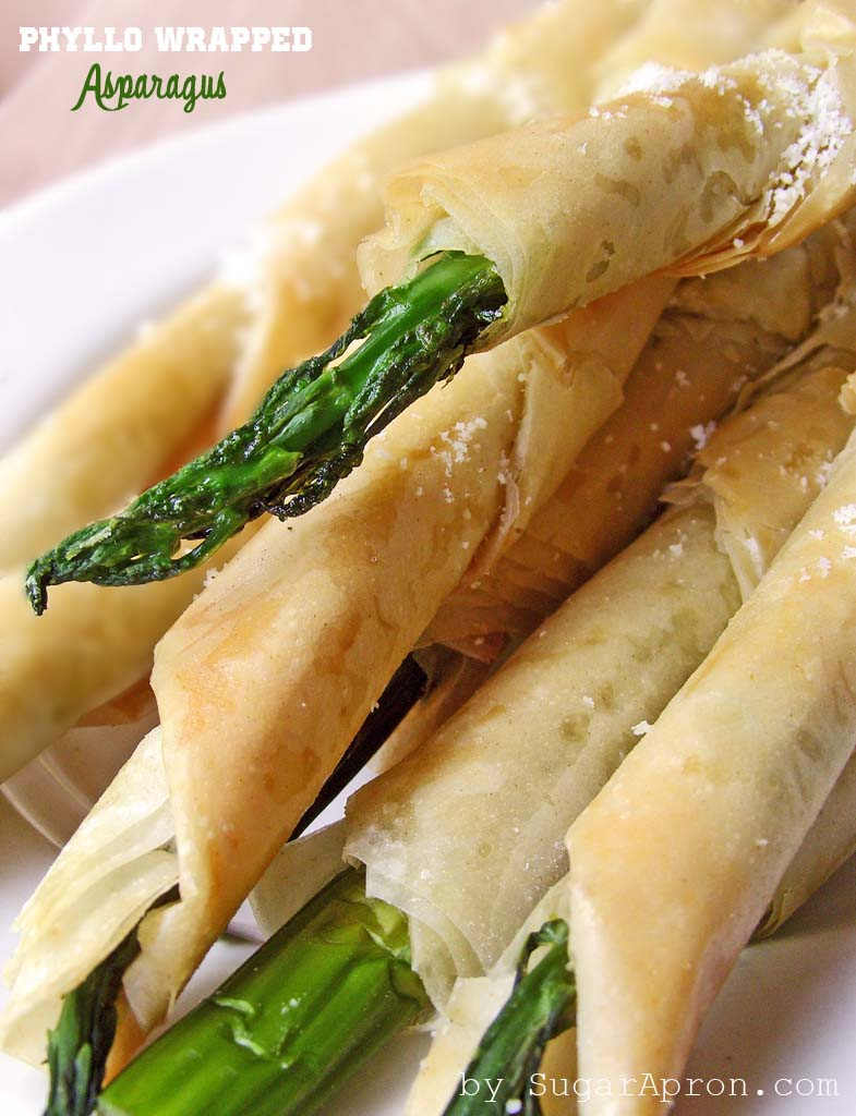Phyllo Wrapped Asparagus with Parmesan