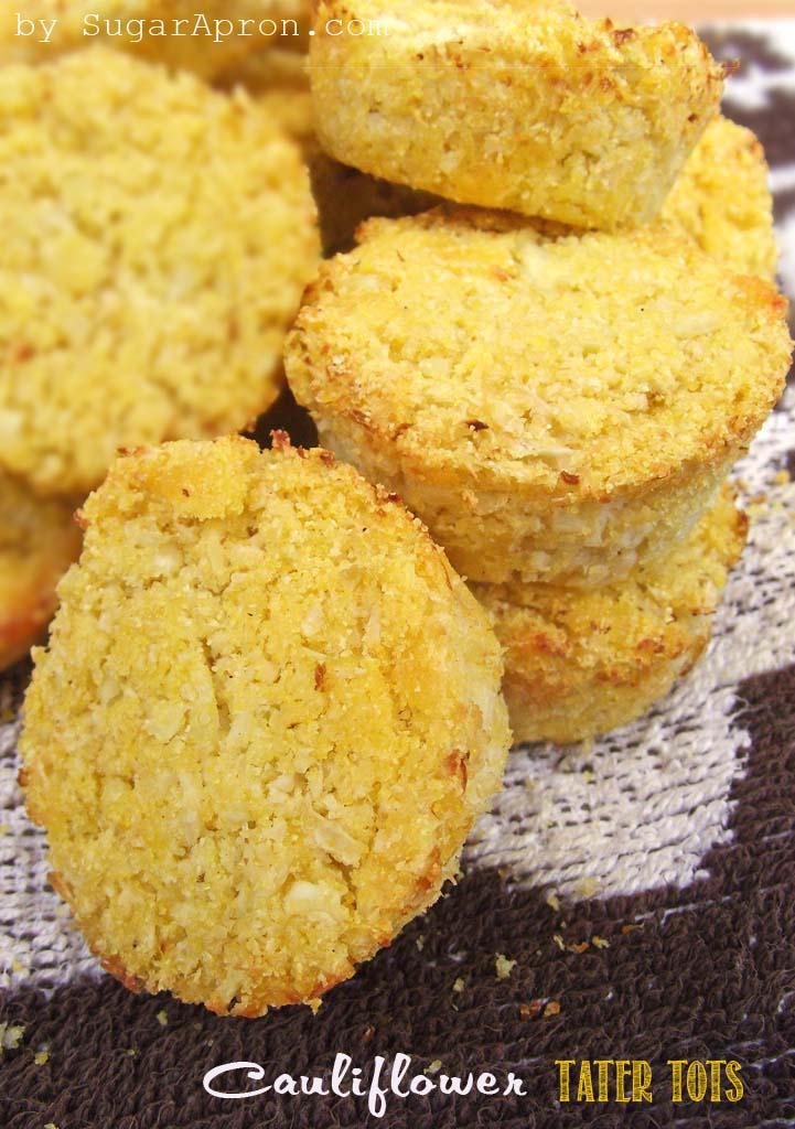 Cheesy Cauliflower Tater Tots Recipe