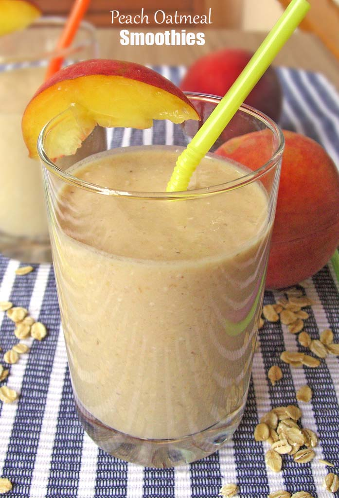 Peach Oatmeal Smoothie