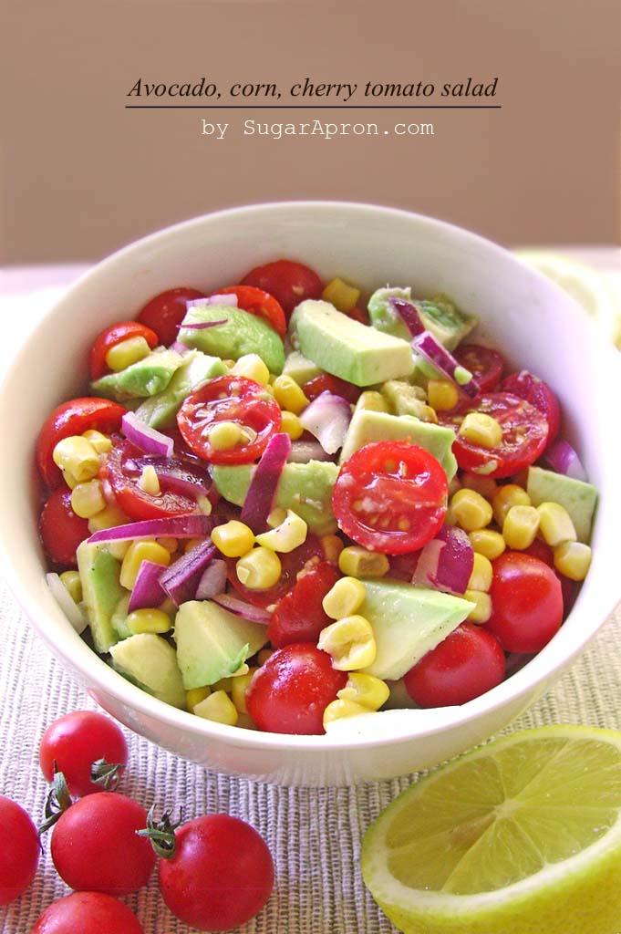 Avocado, Corn & Cherry Tomato Salad