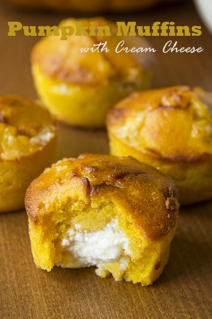 Pumpkin Muffins with Cream Cheese