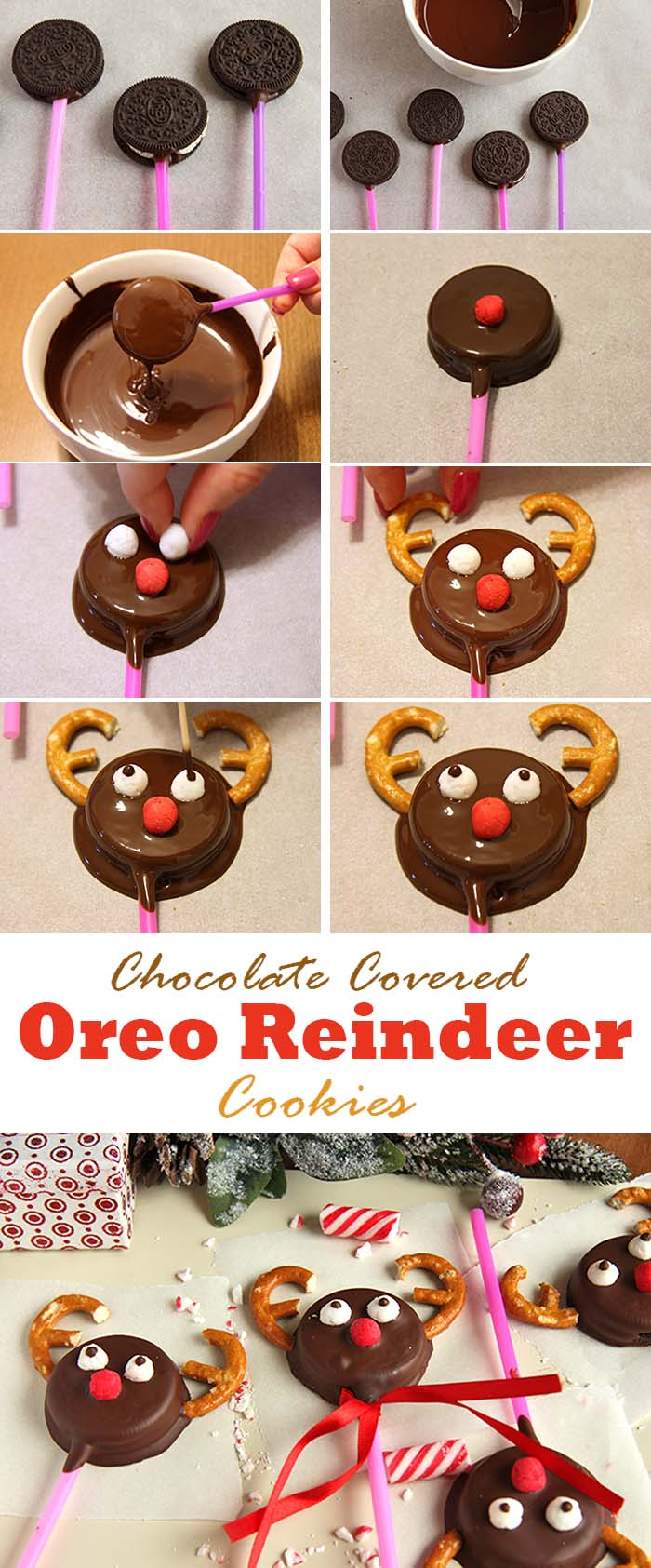 These tasty reindeer oreo cookies are great for a christmas or winter themed parties or just for a fun blustery afternoon.