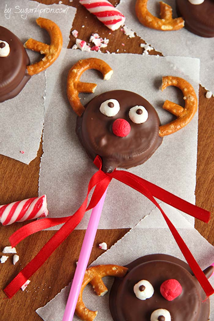 Chocolate Covered Oreo Reindeer Cookies