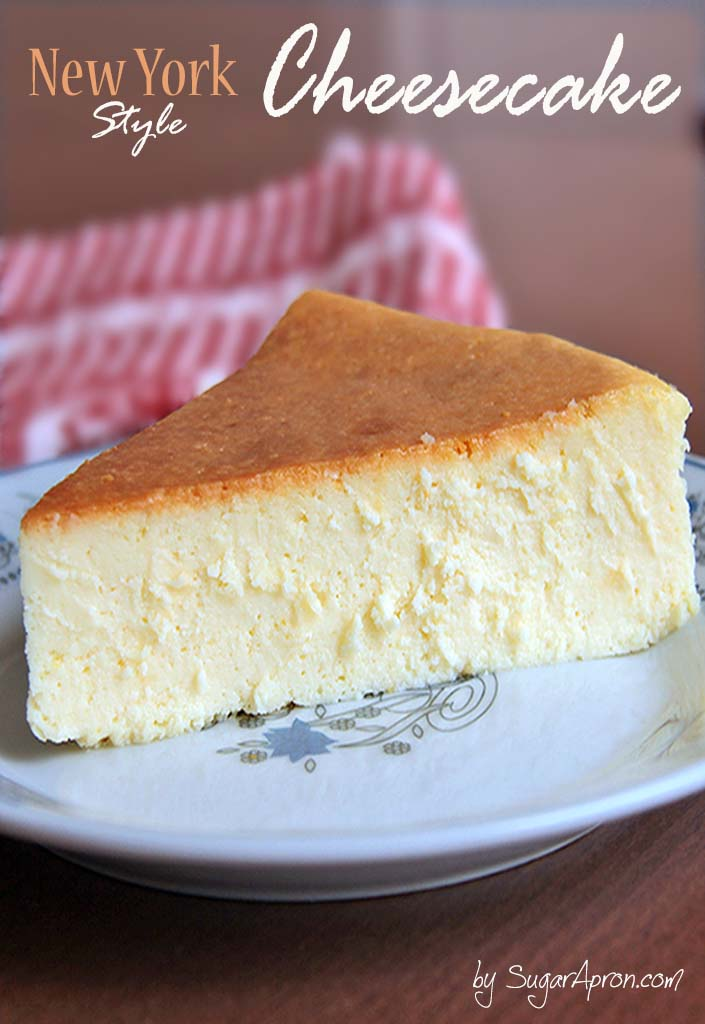 New York Style Cheesecake is creamy smooth, lightly sweet, with a ...