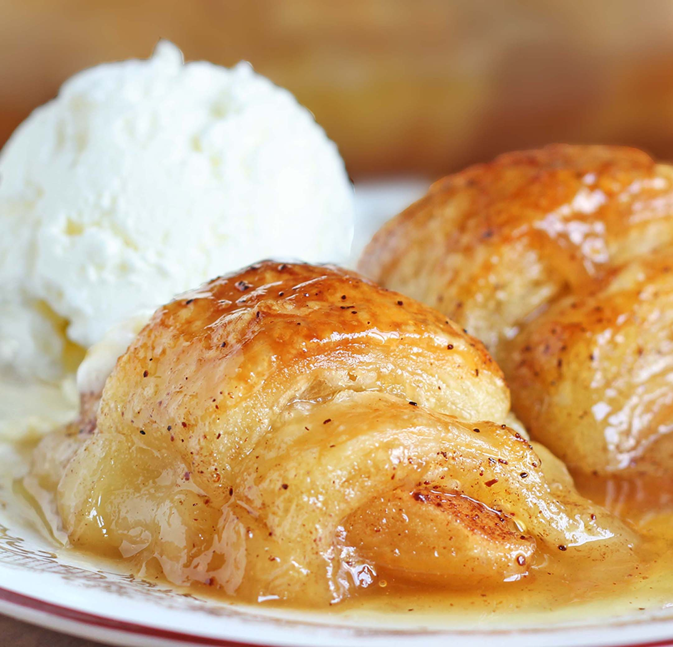 Crescent Roll Apple Dumplings - Sugar Apron