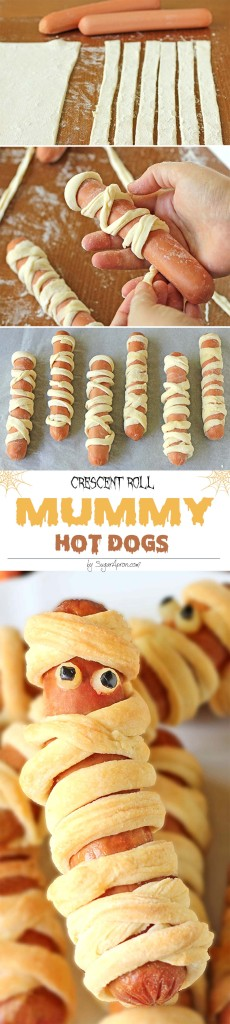 Mummy Hot Dogs In Crescent Rolls Recipe