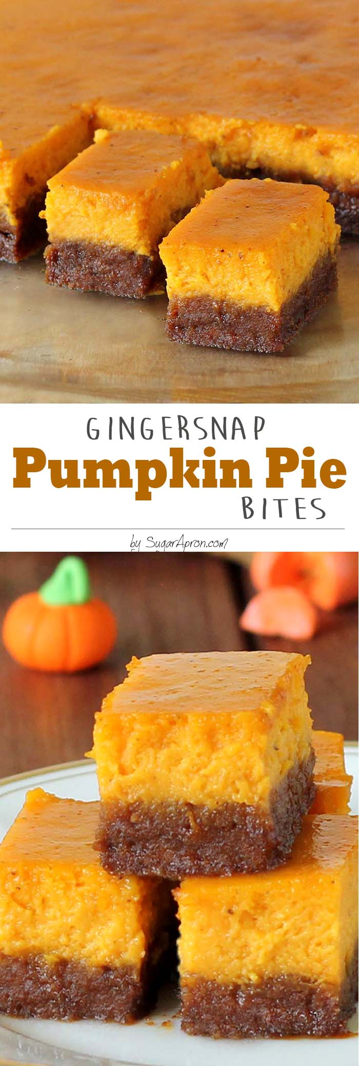 Instead of pumpkin pie this season, try this gingersnap pumpkin pie bites.