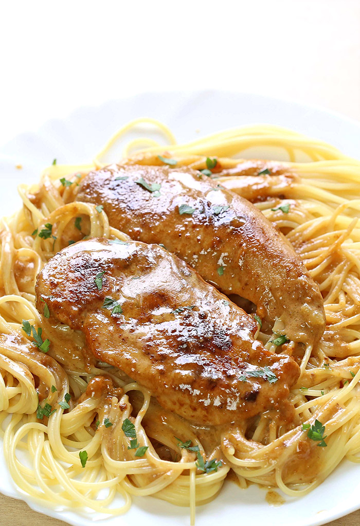 Chicken Lazone - Super easy juicy chicken with spices in a the best ever butter and cream sauce simply calls for more.