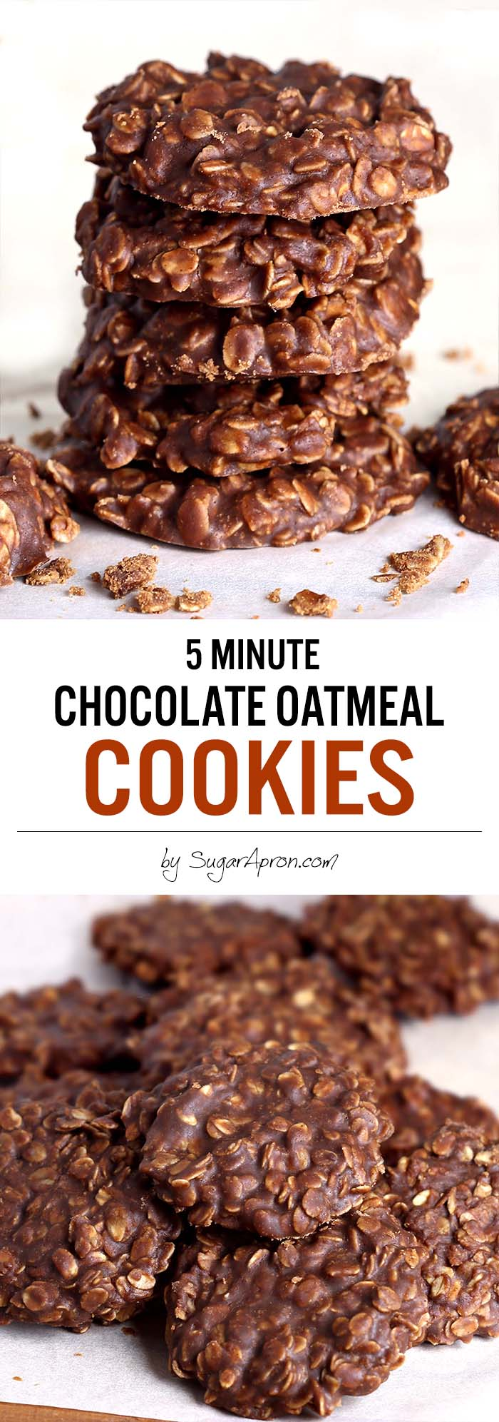 Recipe For  Minute Chocolate Oatmeal Cookies