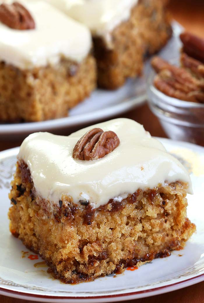 Pineapple Pecan Cake With Cream Cheese Frosting Is Simple And Quick Recipe For Delicious Homemade From Scratch Ingredients That You Already Have