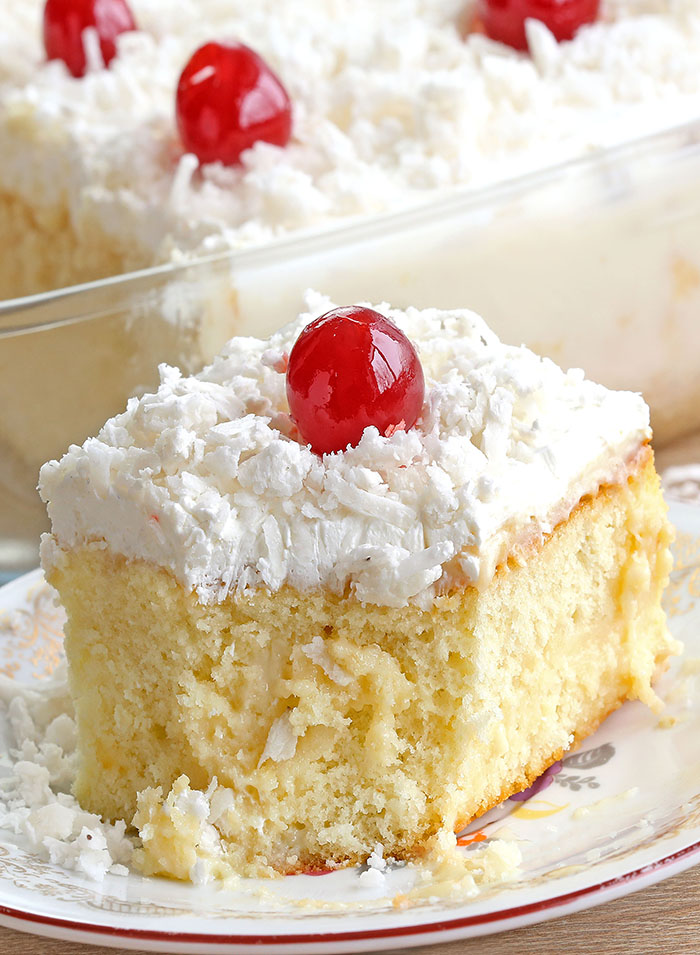 Fast, EASY, impressive, moist, and packed with big, BOLD coconut flavor!! Literally though, this coconut cream poke cake is the best.