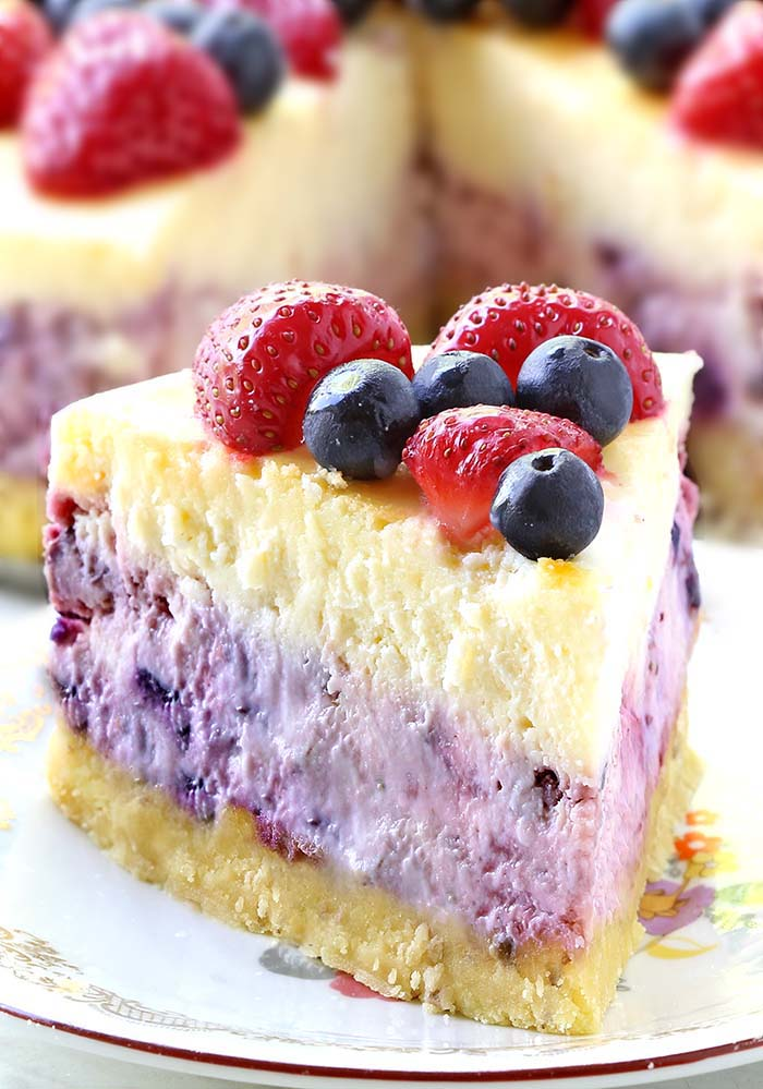 There's never a bad reason to have cheesecake, and this Summer Berry Cheesecake is perfect any day of the year, but especially right now as you're planning out your Memorial Day or fourth of July barbecues and picnics.