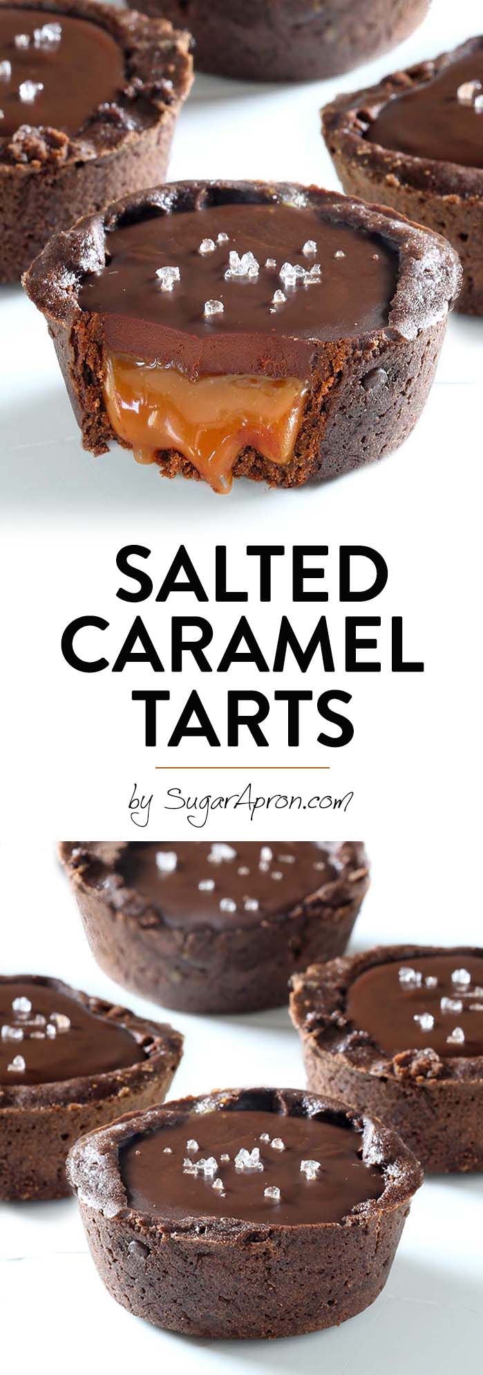 Chocolate Salted Caramel Tarts - Something that every chocolate and caramel fan should taste.