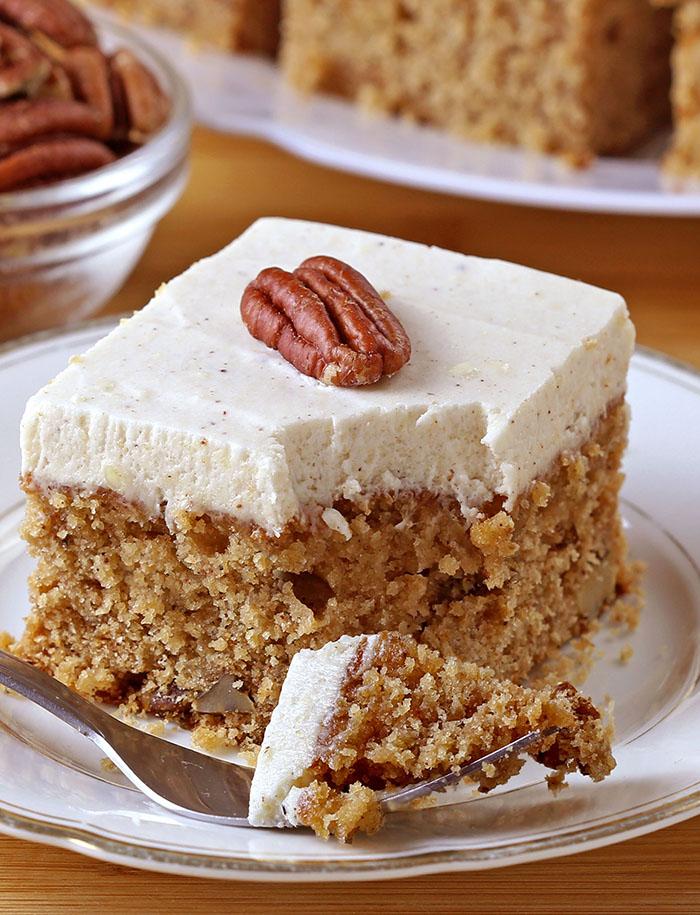 Applesauce Cake With Cinnamon Cream Cheese Frosting Sugar Apron