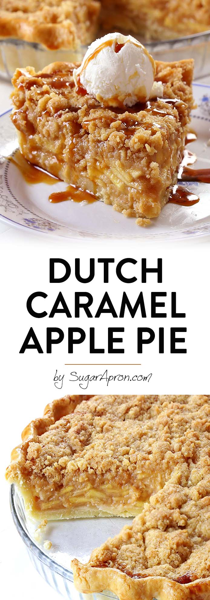 Sometimes you want a dessert that's ALWAYS good, a slice of my homemade Dutch Caramel Apple Pie will make you feel better.