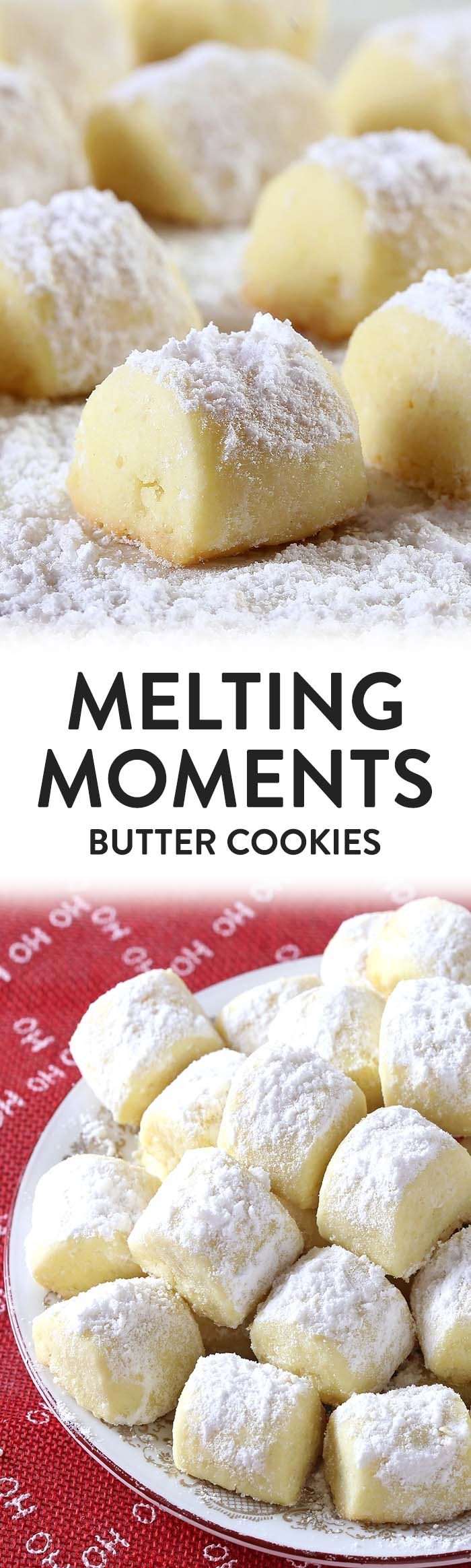 It is melt in your mouth time, folks ! Melting Moments are a MUST-MAKE Christmas Cookies!