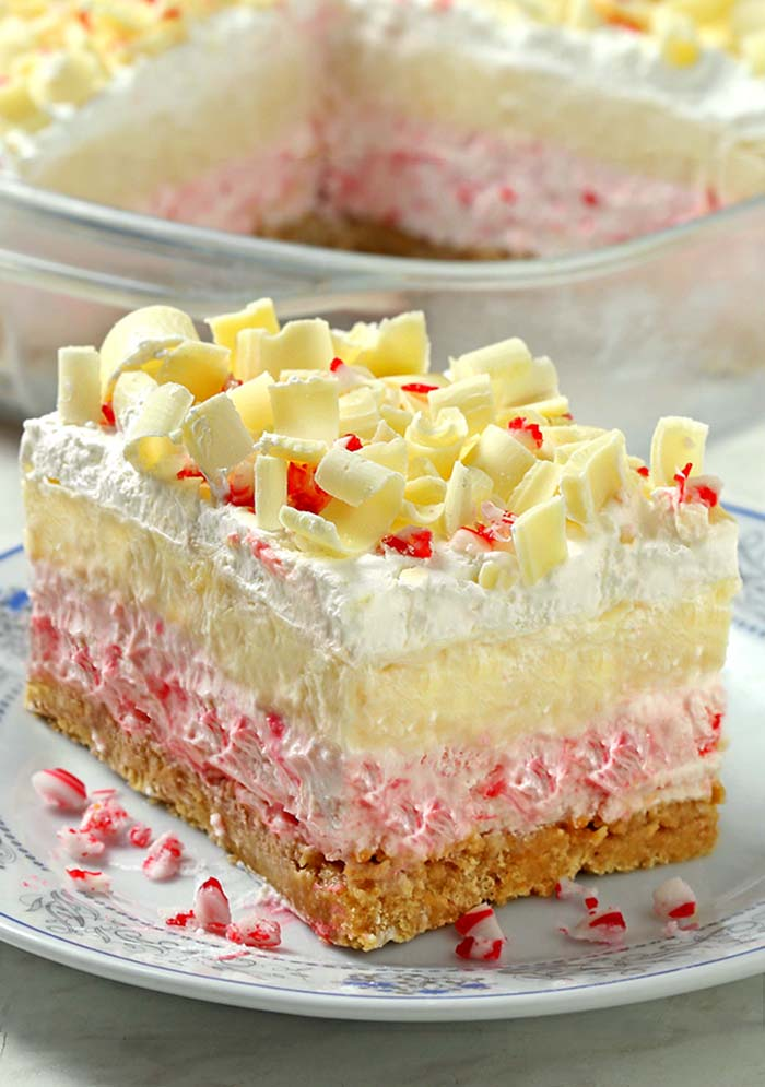 White Chocolate Peppermint Lasagna, such a great holiday season dessert. The combination of creamy, crunchy, and minty provided a nostalgic introduction to the Christmas season.