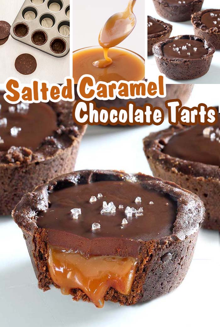 Chocolate Salted Caramel Tarts - Something that every chocolate and caramel fan should taste.  #chocolate  #caramel #mini tarts