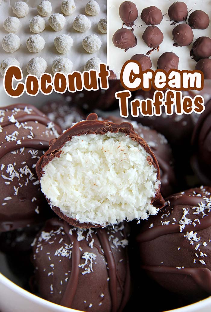 These easy chocolate coconut cream truffles are a coconut and chocolate lovers dream.