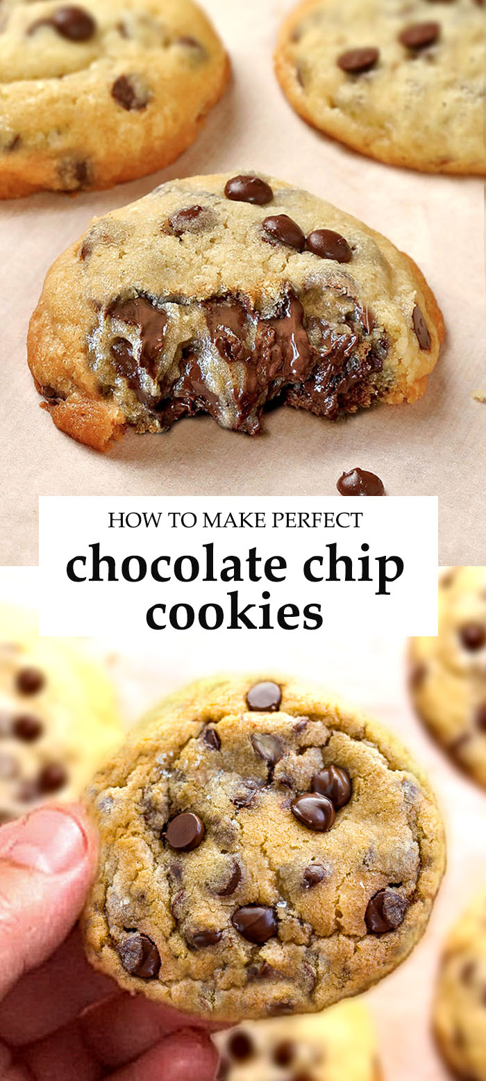 Fool proof Chocolate Chip Cookies recipe can be made LESS than 30 minutes! In fact, they only bake for 7-8 minutes.