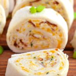 Bacon Cheddar Tortilla Roll Ups
